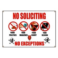 No Solicitors Banner