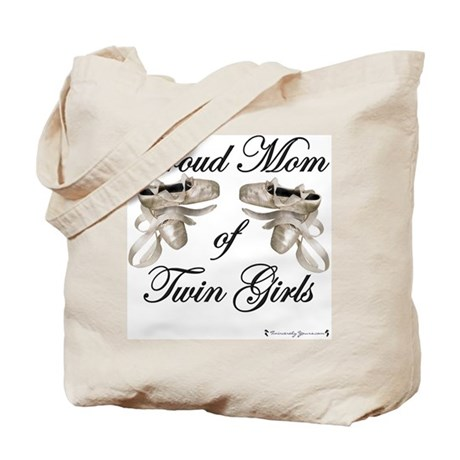 Proud Mom of Twin Girls Ballet Tote Bag