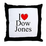 """I Love (Heart) Dow Jones"" Throw Pillow"