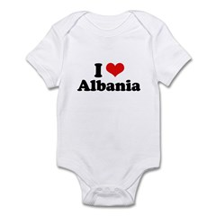 I love Albania Infant Bodysuit