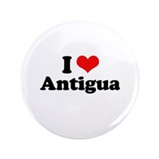 "I love Antigua 3.5"" Button"