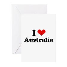 I love Australia Greeting Cards (Pk of 20)