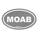 MOAB Utah Black Euro Oval  Aufkleber