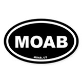 MOAB Utah Black Euro Oval Decal