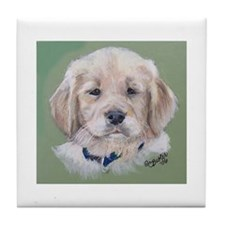 Golden Retriever Puppy Tile Coaster