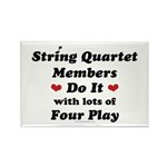 String Quartet Four Play Rectangle Magnet (100 pac