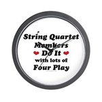 String Quartet Four Play Wall Clock