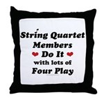 String Quartet Four Play Throw Pillow