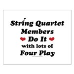 String Quartet Four Play Small Poster