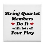 String Quartet Four Play Tile Coaster