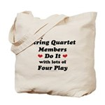 String Quartet Four Play Tote Bag