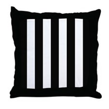 Black and white bars on a sturdy throw pillow