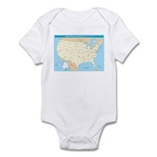 states_capitals_h Body Suit
