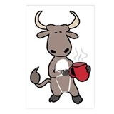 Bull Coffee Cup Postcards (Package of 8)