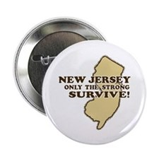 New Jersey Only the strong survive Button