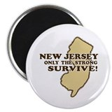 New Jersey Only the strong survive Magnet