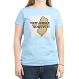 New Jersey Only the strong survive Women's Pink T-