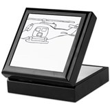 UH-1 BW Keepsake Box