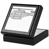 UH-1 Gray Keepsake Box