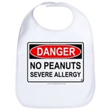 No Peanuts-Severe Allergy Bib