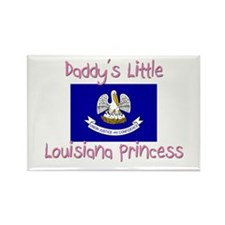 Daddy's little Louisiana Princess Rectangle Magnet