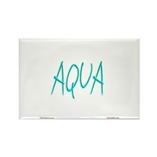 Aqua Rectangle Magnet (10 pack)