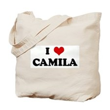 I Love CAMILA Tote Bag