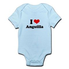 I love Anguilla Infant Bodysuit