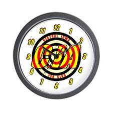 CIA Bullseye number Wall Clock