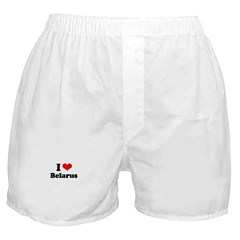 I love Belarus Boxer Shorts