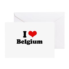 I love Belgium Greeting Card