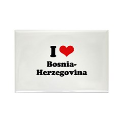 I love Bosnia-Herzegovina Rectangle Magnet