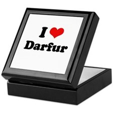 I love Darfur Keepsake Box