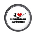 I love Dominican Republic Wall Clock
