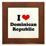 I love Dominican Republic Framed Tile