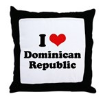 I love Dominican Republic Throw Pillow
