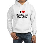I love Dominican Republic Hooded Sweatshirt