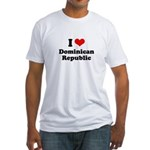 I love Dominican Republic Fitted T-Shirt