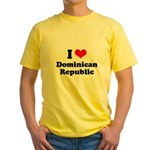 I love Dominican Republic Yellow T-Shirt