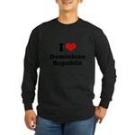 I love Dominican Republic Long Sleeve Dark T-Shirt