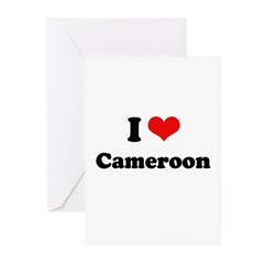 I love Cameroon Greeting Cards (Pk of 20)