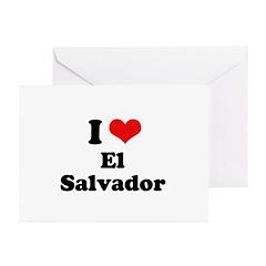 I love El Salvador Greeting Cards (Pk of 10)