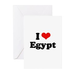 I love Egypt Greeting Cards (Pk of 20)