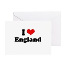 I love England Greeting Cards (Pk of 20)