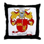 Balboa Family Crest Throw Pillow
