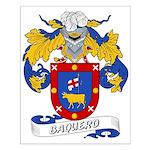 Baquero Family Crest Small Poster