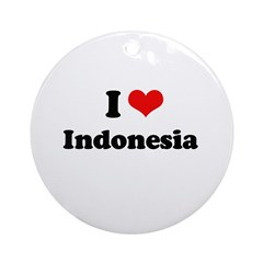 I love Indonesia Ornament (Round)