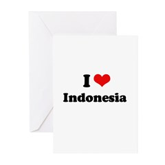 I love Indonesia Greeting Cards (Pk of 20)