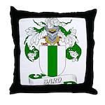 Baro Family Crest Throw Pillow
