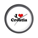 I love Croatia Wall Clock